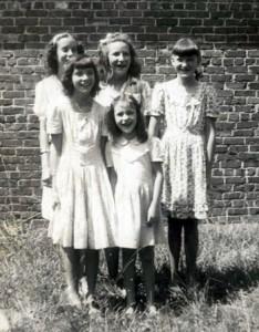 Back row: Betty Gladden, Peggy Chaney, Loretta Chaney. Front row: Becky Blackston, Sherry Chaney