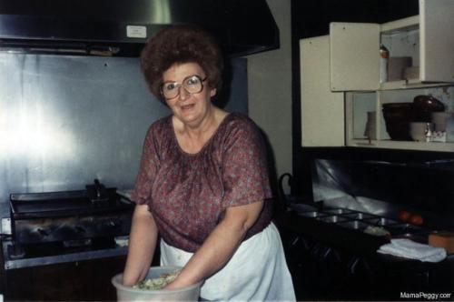 Mama Peggy Making Salad